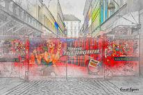 Fotografie, Hamburg, Reeperbahn, Mauer