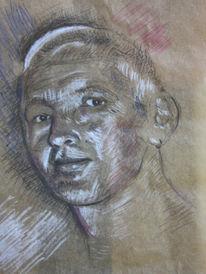 Portrait, Skizze, Mann, Zeichnungen