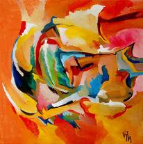 Ölmalerei, Malerei, Abstrakt, Wrack
