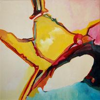 Ölmalerei, Malerei, Abstrakt, Bucht
