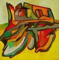 Ölmalerei, Malerei, Abstrakt, Festung