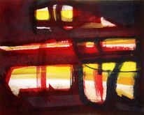 Abstrakter expressionismus, Malerei, Romanze, Ölmalerei
