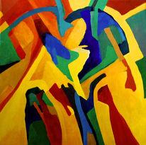 Ölmalerei, Malerei, Abstrakt, Schrei