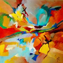Ölmalerei, Malerei, Abstrakt, Traum