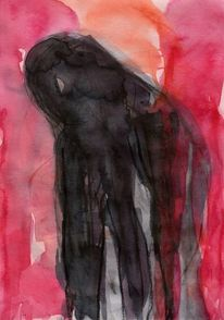 Akt, Surreal, Abstrakt, Rot