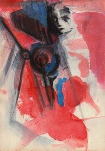 Nonsens, Traum, Rot, Malerei