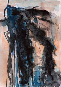Nacht, Abstrakt, Surreal, Malerei