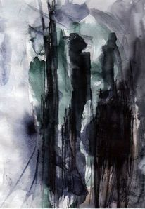 Abstrakt, Surreal, Nacht, Figural