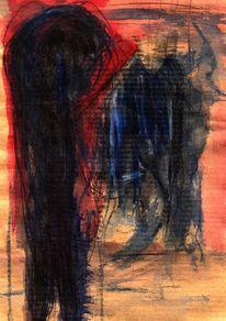 Rot, Abstrakt, Surreal, Blau