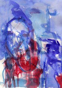 Blau, Surreal, Rot, Abstrakt