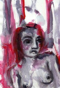 Figural, Rot, Surreal, Malerei