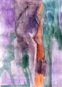 Abstrakt, Figural, Surreal, Aquarell