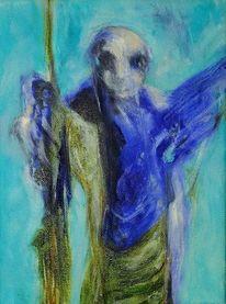 Kalt, Wahn, Blau, Malerei