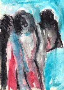 Blau, Rot, Surreal, Abstrakt