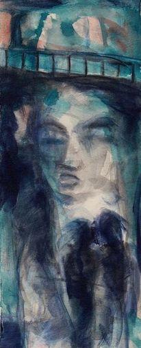 Nacht, Surreal, Mond, Abstrakt