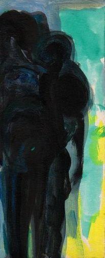 Nacht, Blau, Wahn, Malerei