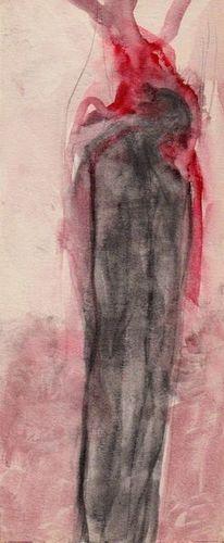 Menschen, Rot, Surreal, Malerei