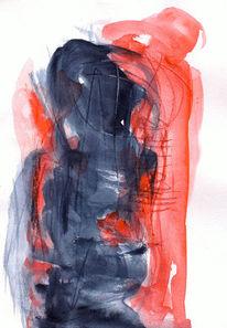 Rot, Figural, Surreal, Malerei