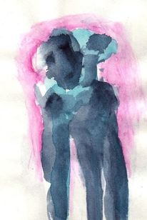 Figural, Surreal, Abstrakt, Aquarell