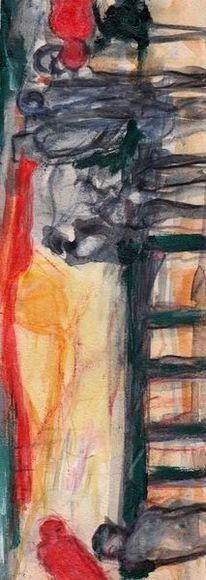 Rot, Abstrakt, Surreal, Malerei