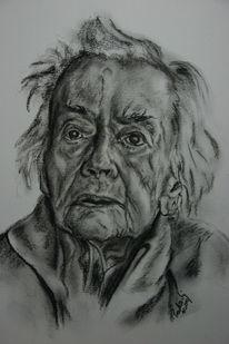 Gesicht, Frau, Zeichnung, Alter