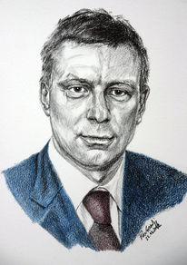 Viktringer kreis, Gesicht, Portrait, Kohlezeichnung