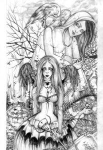 Düster, Statue, Gothic, Zeichnungen