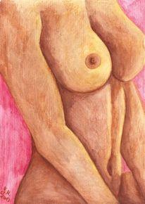 Modern, Aquarellmalerei, Zeitgenössisch, Frau