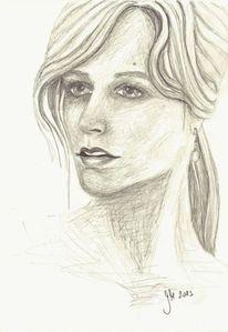 2013, Selbstportrait, Zeichnung, Gesicht