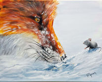 Fuchs, Maus, Winter, Landschaft