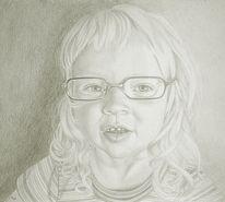 Kind, Mädchen, Portrait, Zeichnung