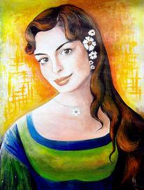 Austen, Mädchen, Frau, Blumen