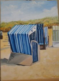 Malerei, Strandkorb