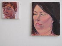 Malerei, Mann, Augen, Frau