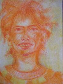 Gelb, Orange, Sommersproßen, Zeichnungen