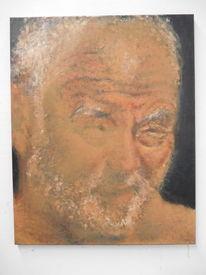 Mann, Alt, Haut, Malerei