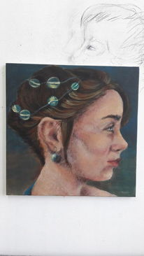 Schmuck, Profil, Farben, Malerei