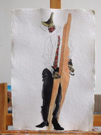 Frau, Hand, Zeichnung, Mann