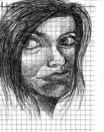 Arbeitszeit, Zeichnungen, Frau,