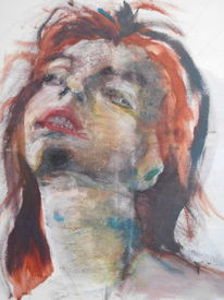 Portrait, Perspektive, Frau, Braun