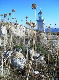 Griechenland, Urlaub, Blau, Leuchtturm