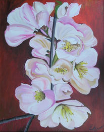 Acrylmalerei, Blumen, Malerei, Pflanzen
