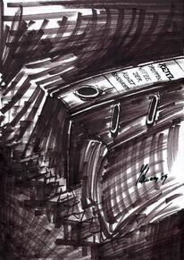 Duchamp, Richter, Zeichnung, Karikatur