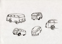 Feder, Auto, Illustration, Bus