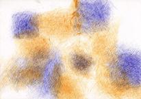 Abstrakt, Feder, Zeichnung, Schraffur