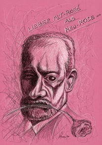 Illustration, Polychromos, Zeichnung, Karikatur