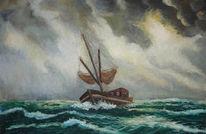 Fischer, Ostfriesland, Wasser, Gemälde