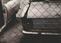 Auto, Schrott, Fotografie, Schwarzweiß