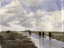 Ostfriesland, Wolken, Schinken, Landschaft