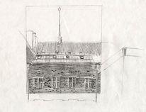 Skizze Bleistiftzeichnung Architektur Zeichnung